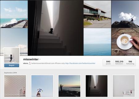 Instagram de @misswinter Compisdemoda