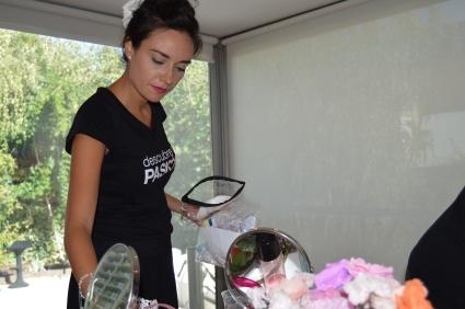 Beauty Party de Fin de Verano del 13 de septiembre. Aquí tenemos a Erika, tan detallista como siempre.