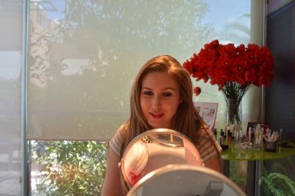 Beauty Party de Fin de Verano del 13 de septiembre. Marta, guapísima después del taller con Gema.